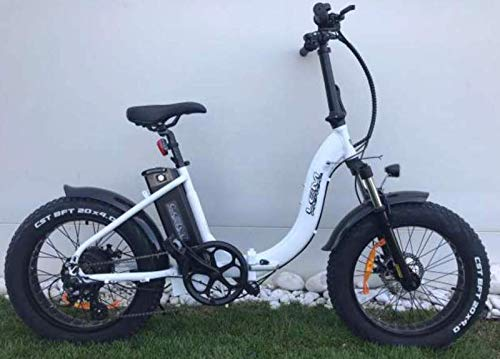 Tecnobike Shop Bici elettrica a pedalata assistita Z-Tech ZT-89-B Folding Etna Pieghevole 500W (Bianco)