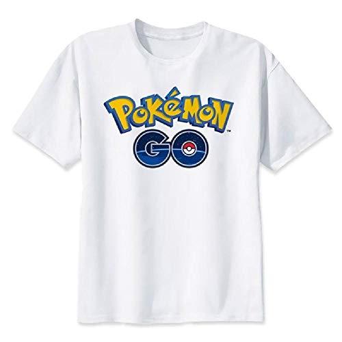 T-Shirt a Maniche novit Pokemon Pet Elf Stampa Digitale Simpatico Pantaloncino Bianco