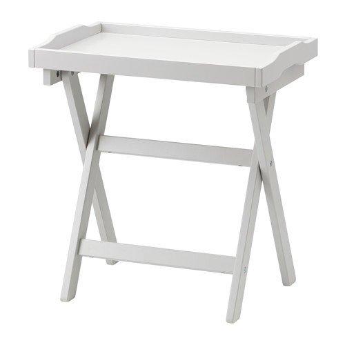 IKEA MARYD Tabletttisch in grau; (58x38x58cm)