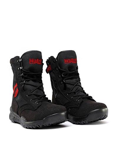 Double Red Herren Outdoor Schuhe Black Red Desert Schwarz Stiefel Boots
