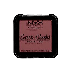 MATTE BLUSH: Sweep your cheeks in color with this matte finished NYX Professional Makeup powder blush. This creamy formula delivers a flush of high pigmented matte color in shades from berry and nude to purples and yellow TRY BOTH BLUSH FINISHES: Swe...