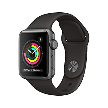 AppleWatch Series3  GPS 38mm  - Space Gray Aluminum Case with Black Sport Band