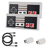 Wireless Controller für NES Classic Mini Laelr 2er kabellose NES Game Controller wiederaufladbarer...