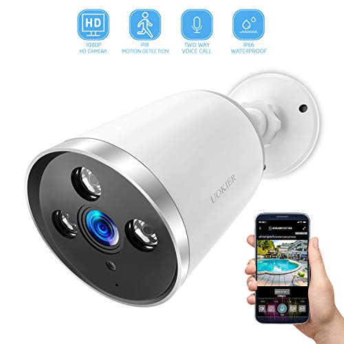 Outdoor Security Camera, Wireless Surveillance System 1080P HD Bullet Camera with Motion Detection, Waterproof IP66 Night Vision, 2-Way Audio, Theft-Deterrent Alarm with Cloud Storage/TF Slot