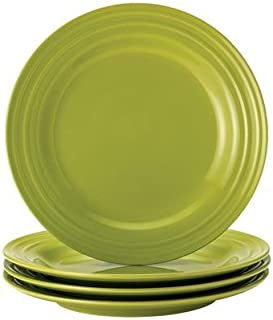 Rachael Ray Dinnerware Double Ridge 4-Piece Dinner Plate Set
