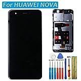 LCD Touchscreen Display Digitizer für Huawei Nova Nova 1st 1 Bildschirm Generation Schwarz Glas + Rahmen + kleber + Werkzeuge