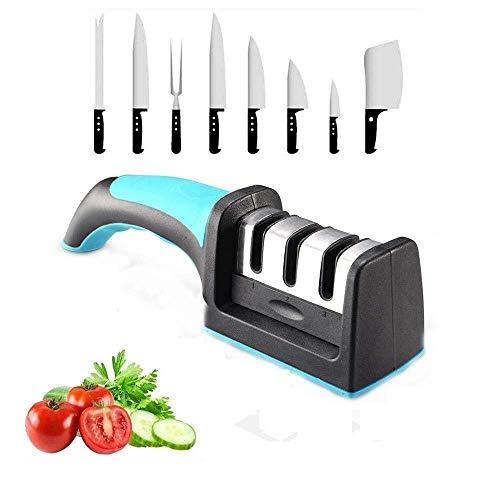 FEE-ZC Aiguiseur de Couteau de Cuisine Whetstone Rod d'affûtage Cadre Fixe Multifonctionnel Outils Rapides Gadgets Accessoire-H 2,20 Pouces, B Whetstone Knife