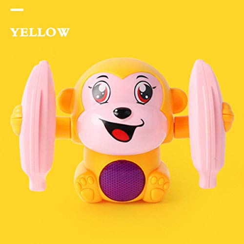 Great Deal! Fantasysmoke Children's Toy Monkey Electric Flipping Monkey Light and Sound Control Musi...
