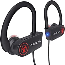 TREBLAB XR100 - Ergonomic Wireless Sport Earbuds. Bluetooth Running Headphones & Best Workout Headphones. Wireless Earbuds for Gym. HD Sound Mic for iPhone Android. Running Earphones 2019
