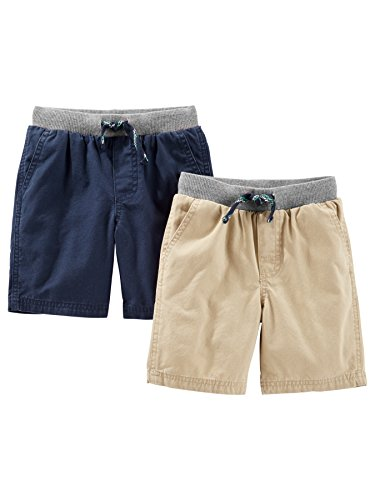 Simple Joys by Carter's Baby Boys' Toddler 2-Pack Shorts, Khaki, Navy, 2T Boys Navy Short Set