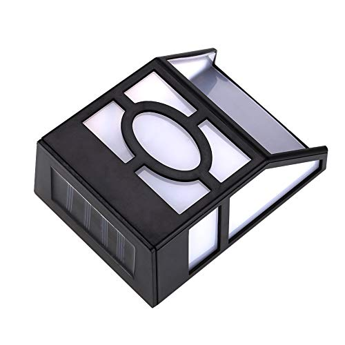 REALM-ARK Solar Wandleuchten Outdoor 2 LED für Gartenweg Landschaftszaun Hof(Warmweiß)