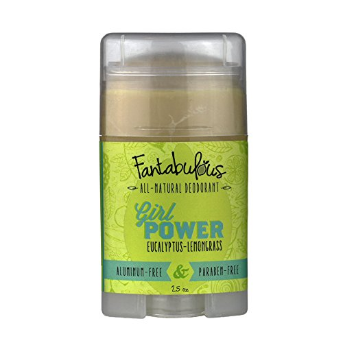 All Natural Deodorant - Scented w/Patchouli and Orange Essential Oils - Girl Power by Fantabulous - Aluminum Free