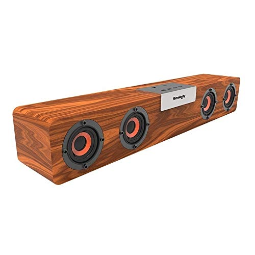 Bluetooth 5.0 20W Retro Vintage Radio Super Bass HiFi Bamboo Multimedia Speaker FM Radio 2400mA Rechargeable Battery Arts and Crafts