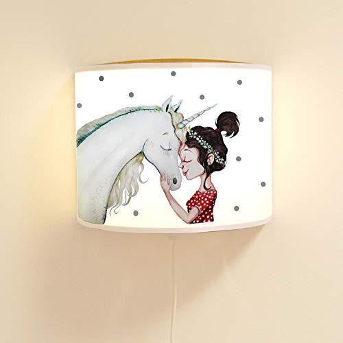 Ilka Parey Ls113 Applique Murale pour Enfant avec Jolie Licorne et Lampe à Motif pour Fille