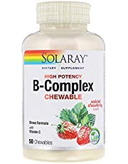 Solaray B-complex Chewable Strawberry Kiwi, 50 Wafers (001571)