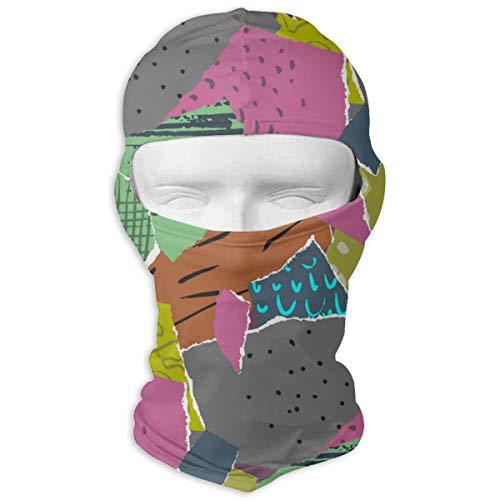 NOBRAND volledig gezicht masker stukken van gescheurd papier Vector afbeelding kap zonnebrandcrème masker dubbele laag koud voor mannen en vrouwen