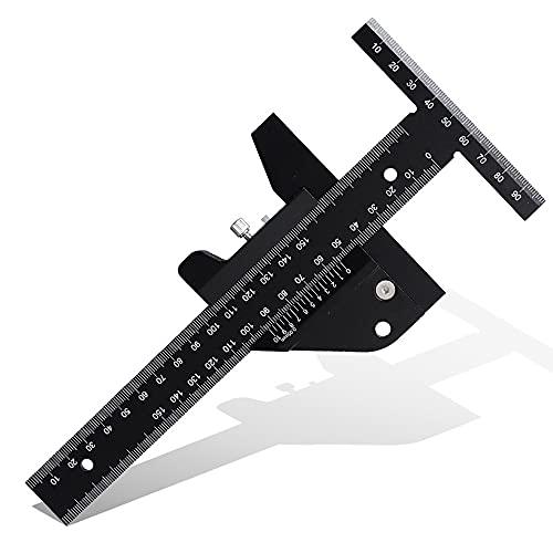 Staright Regla de medición desmontable de dibujo en T de aleación de aluminio, reglas de bricolaje multifuncionales, herramientas de carpintería
