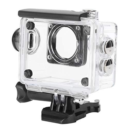 Fybida Material de PC Transparente de Mantenimiento Conveniente Accesorios de Carcasa Buceo 30M SJ4000 Actualización de compatibilidad Cubierta Protectora de la cámara para la mayoría de Las
