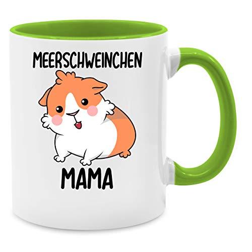 Statement Tasse - Meerschweinchen Mama - Unisize - Hellgrün - statement tasse - meerschweinchen mama - - Q9061 - Kaffee-Tasse inkl. Geschenk-Verpackung