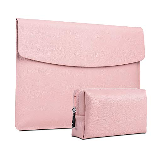 XISICIAO, Briefcase Tailor Made for Microsoft Surface Pro 7/Pro 6/Pro 2017/Pro 4/Pro X, 12.3 Inch Laptop Anti-Collision Sleeve Cover Waterproof Polyester Ultrathin Carrying with Small Bag(Youth Pink)