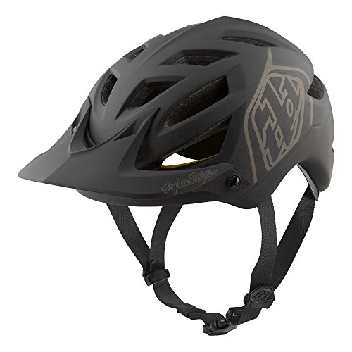 Troy Lee Designs Adult Half Shell | Cycling | All Mountain | Mountain Bike A1 Classic Helmet W/MIPS (Black, MD/LG)