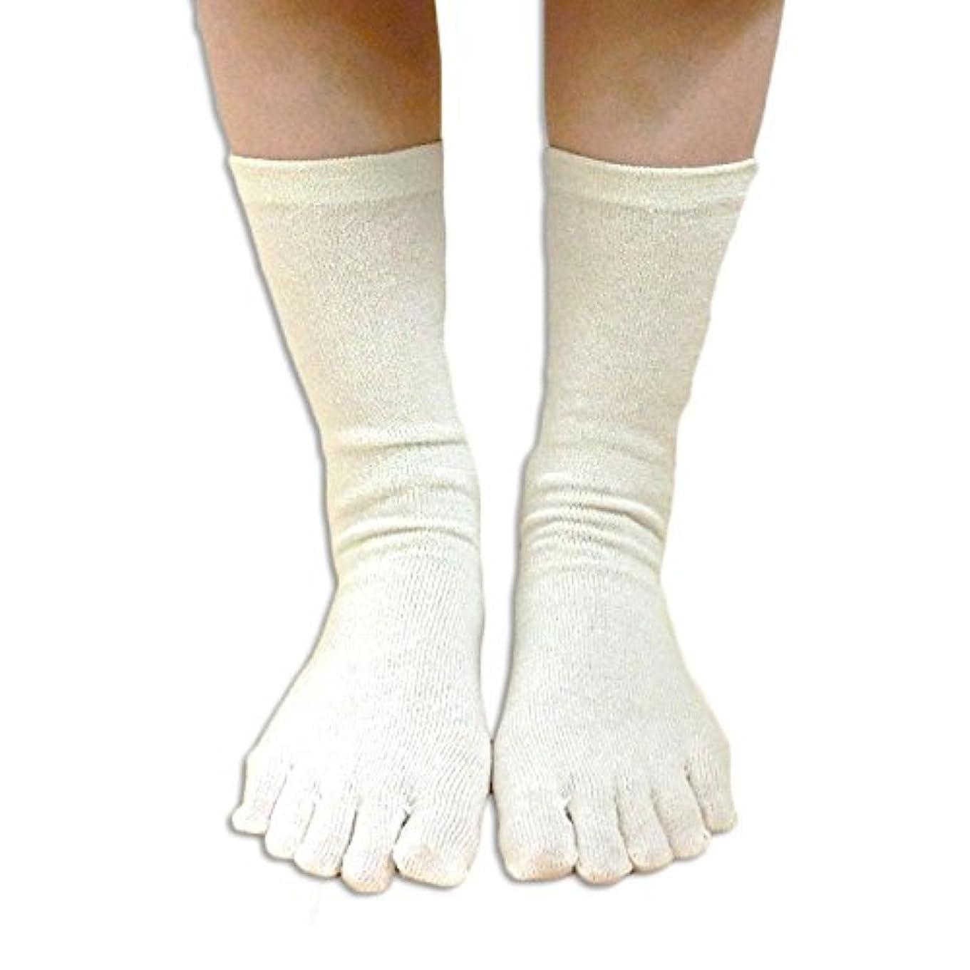 涙の中で顕微鏡シルク 100% 五本指 ソックス 3足セット かかとあり 上質な絹紡糸と紬糸ブレンドした絹糸を100%使用した薄手靴下 重ね履きのインナーソックスや冷えとりに