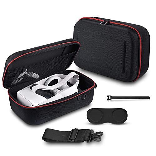 AkoaDa Tasche Für Oculus Quest 2,Tragetasche Etui Für 3D VR Virtual Reality Headset/Oculus Quest 2 Eva Hart VR Gaming Gamepad Fernbedienung Reisetasche