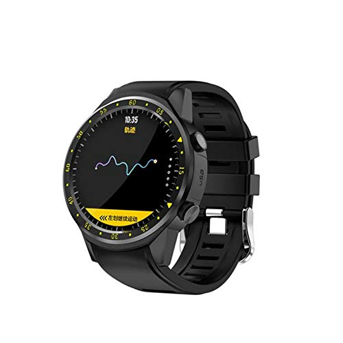 ZYDZ Relojes Deportivos para Hombres y Mujeres, podómetro GPS, monitoreo del sueño de Ritmo cardíaco, múltiples Modos de Deportes, Relojes Bluetooth a Prueba de Agua,A