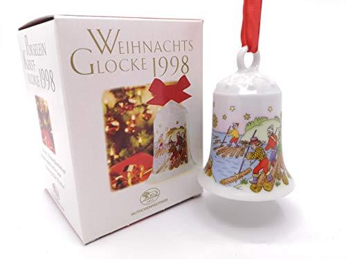 Hutschenreuther Weihnachtsglocke 1998*Rarität, Porzellanglocke, Anhänger, Baumanhänger, Baumschmuck