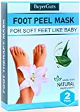 BuyerGuts Foot Peel Mask for Baby soft feet by exfoliating Dead skin calluses peeling off for men...