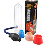 Hand Power Suction Pump, Massager Toys for Men ED Vacuum Pump Kit, 3 Pcs Soft Sleeve and Quick Release Valve