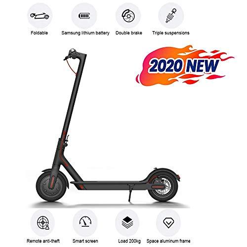 Elektrische scooter voor volwassenen, inklapbare motor, 500 W, maximale snelheid, 25 km/u, E-scooter met opblaasbare banden van 20,3 cm (5 inch) met led-display, opvouwbaar, unisex