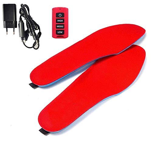 LanXi Heizsohlen Schuhheizung Deluxe, kabellose beheizbare Thermosohle wiederaufladbar USB-Fußwärmer mit Akkubetrieb für Winter-Camping Angeln Wandern,...