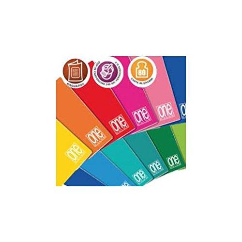 Blasetti Maxi One Color, Quaderno Formato A4, Rigatura 10, Quadretti 1 cm per 1° Elementare, Carta 80g/mq, Pacco da 10 Pezzi