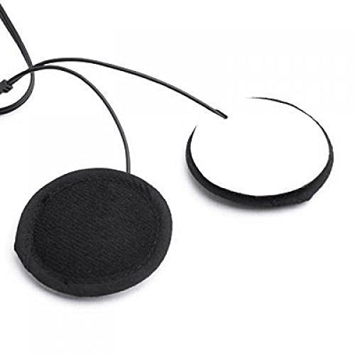 WINOMO 3.5 mm Klinkenstecker Stereo Motorrad Helm Lautsprecher Kopfhörer mit Volume-Steuerung für Handy MP3 GPS (Schwarz) - 4