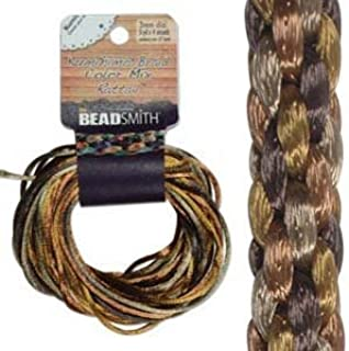 3mm Satin Rattail Braiding Cord Wheatberry 12 Yards For Kumihimo and Craft