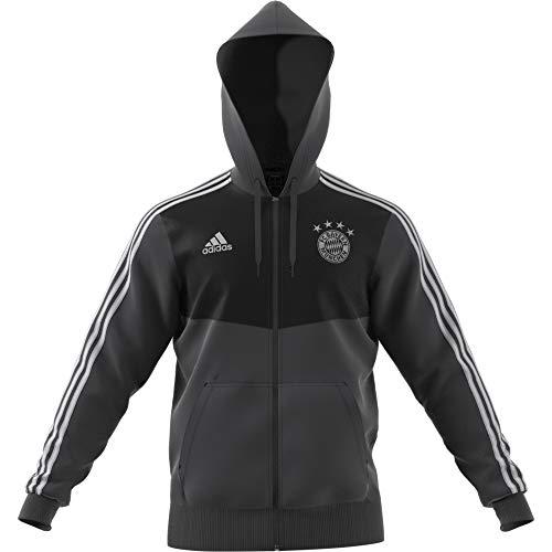 adidas Herren FC Bayern München FZ Hoodie 3S 201819 Carbon