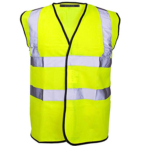 Hi Vis Vest Yellow & Orange Small To 6XL 2 Band & Brace