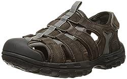 commercial Skechers Garver-Selmo Fischer Men's Sandals, Brown, 12 M US mens born sandals