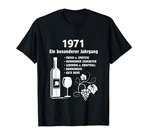 Geburtstag Geschenk Wein Vintage - Besonderer Jahrgang 1971 T-Shirt