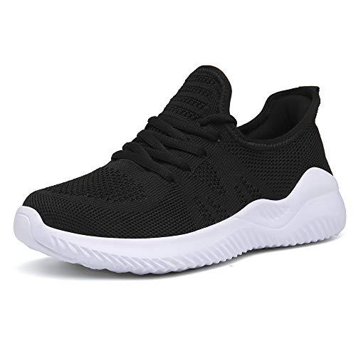 Zapatos Correr Mujer Running Zapatillas Deportivo Fitness Sneakers Ligero Negro 40 EU
