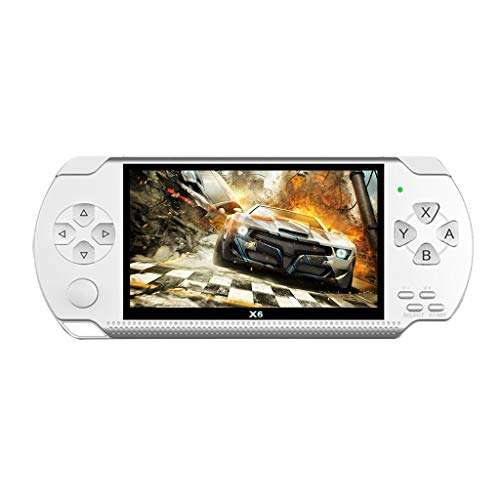4.3 inch Portable Handheld PSP Vedio Game Consoles Player Built-in 2000 Games 8GB Play Games Listen to Music or Read Anytime Anywhere Birthday for Kids Children Boys Girls