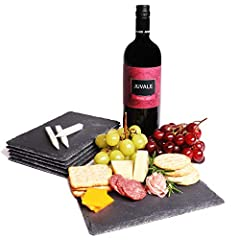 SLATE CHARCUTERIE BOARDS: Slate cheese serving boards with a smooth surface for dinner parties and entertaining SERVEWARE: Perfect for cheeses, dried fruits, cured meats, desserts and vegetables GREAT DESIGN: The slate board is not only very function...