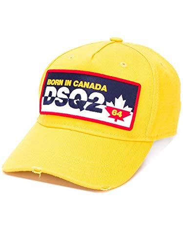 DSQUARED2 Gorra Baseball Parche DSQ2 Modelo BCM035605C00001 Color Amarillo