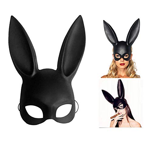 SuperCat Halloween Cosplay Bunny Mask Halloween Party Costume Ball Bunny Ear Mask