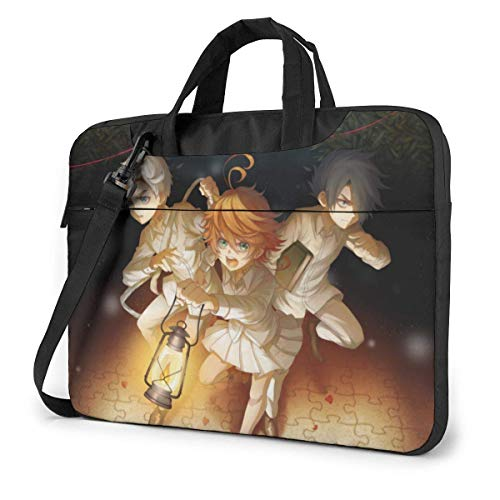 XCNGG Anime The Promised Neverland Stylish Customized Laptop Shoulder Bag, Suitable for 13-15.6 inch MacBook Pro/Air and Most Other Laptops, Portable Laptop Bags, Briefcase Protective Covers