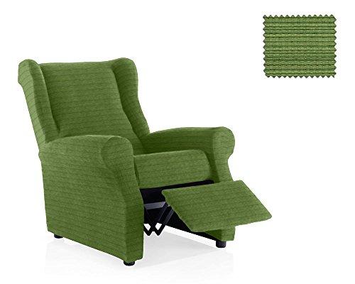 JM Textil Copripoltrona Relax Moraig Dimensione 1 Posto (Standard), Colore Verde (Vari Colori Disponibili)