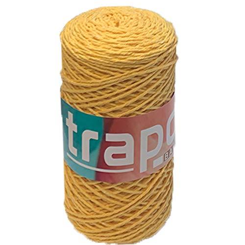 Hilo barbante 255 gr 172 MT Color Amarillo Azufre, Ovillo Hilo algodón,...