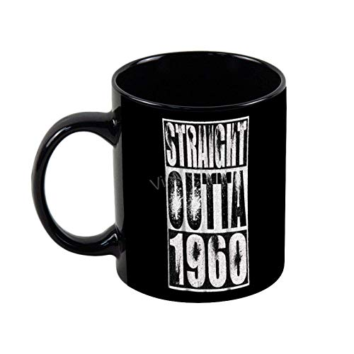 N\A Lustige Kaffeetassen Straight Outta 1960 Lustige GIF-Kaffeetasse zum 58. Geburtstag Black- 11OZ Coffee Mug