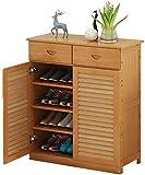 Ranuras de zapato ajustables Organizador Bastidore Estante de zapatos Multifuncional Multi-Capa Mueble de zapatos de madera Ventilación para el hogar y gabinete a prueba de polvo Almacenamiento de zap